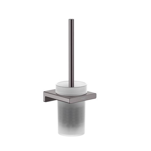 Набор для WC с держателем Hansgrohe AddStoris 41752340 (шлифованный черный хром)