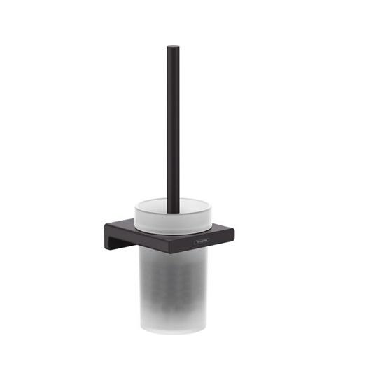 Набор для WC с держателем Hansgrohe AddStoris 41752670 (матовый черный)