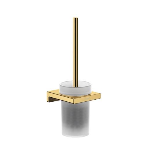 Набор для WC с держателем Hansgrohe AddStoris 41752990 (полированное золото)