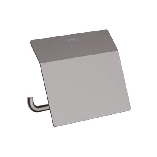 Держатель для туалетной бумаги Hansgrohe AddStoris 41753340 (шлифованный черный хром)