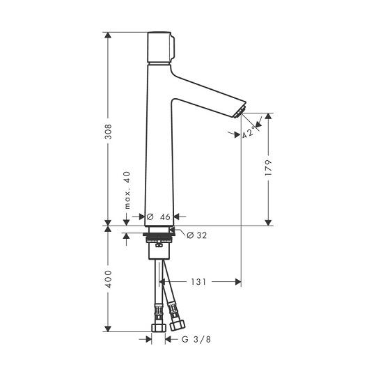 Смеситель для раковины Hansgrohe Talis Select S 72045000