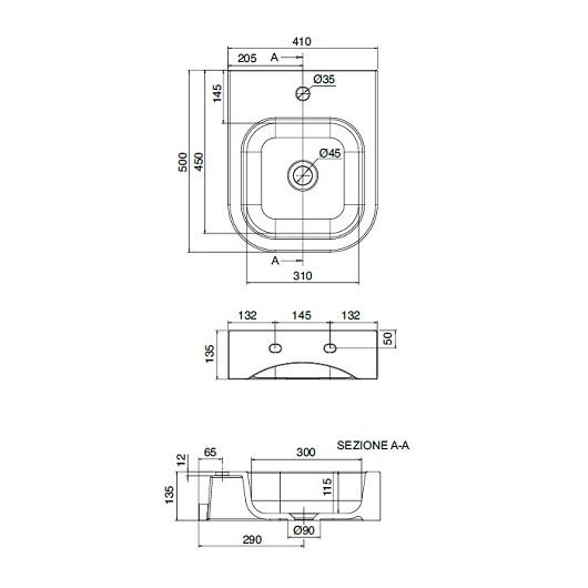 Раковина Scarabeo Next 40B 8047/B (410х500 мм)