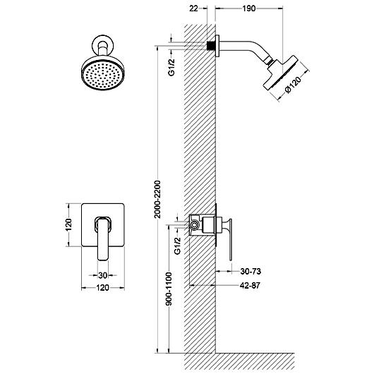 Душевая система Timo Torne SX-4379/00SM (хром)